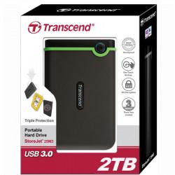 Transcend 2TB Disco Duro Portátil USB 3.0 StoreJet 25M3