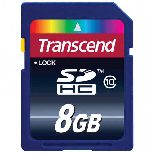 Transcend SDHC 8GB Class 10 Lectura 20MB/s