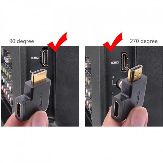 Ugreen Adaptador HDMI Hembra 270grados /  90 grados en pack