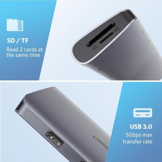 Ugreen 40873 Adaptador Multipuerto 9 en 1 USB-C