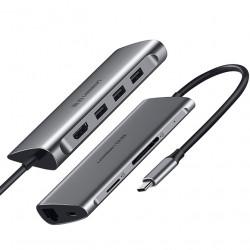Ugreen 50516 Estacion USB-C (Thunderbolt 3) HDMI + USB 3.0 + LAN + Reader