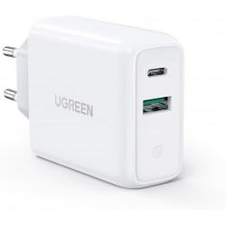 Ugreen 60468 Cargador EU de pared USB C y USB A de 30 Watts