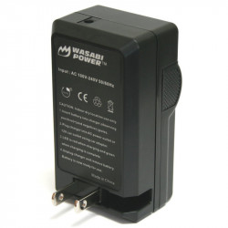 Wasabi Kit NB6L 2 Baterías y cargador AC para Powershot