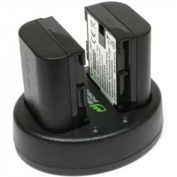 Wasabi LP-E6 2 Baterías y Cargador Doble USB para Canon LP-E6
