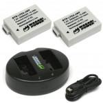 Wasabi LP-E8 2 Baterías y Cargador Doble Canon DSLR compatible LP-E8