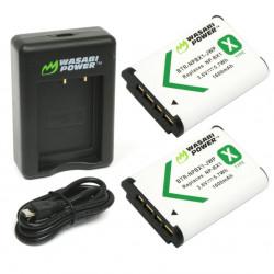 Wasabi Kit NPBX1 2 Baterías BX1 y cargador USB para Sony
