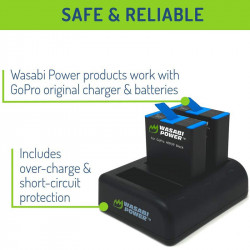 Wasabi Hero9 Kit 2 Baterías y Cargador USB GoPro HERO9