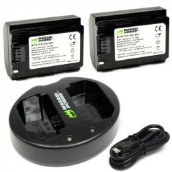 Wasabi A9 A7R A7III A7SIII  2 Baterías y Cargador Dual USB  NP-FZ100