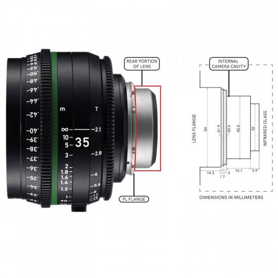 Wooden Camera Kit de modificación PL para Pocket 6K