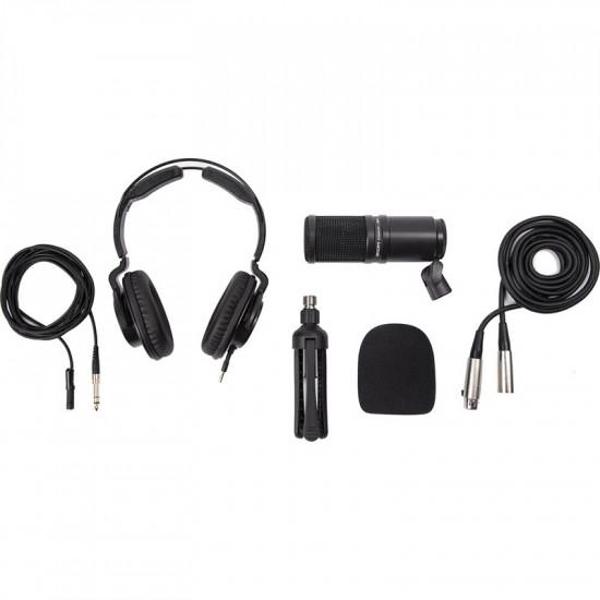 Zoom ZDM-1PMP Podcast Kit auriculares, paraviento y soporte de mesa