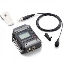Zoom F1 Grabadora de Campo + Micrófono tipo Lavalier