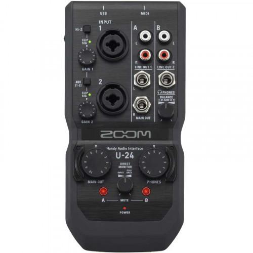 Zoom U24 Interfaz de audio de 2 entradas / 4 salidas