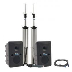 Anchor Audio GDP/HH Go Getter - Sistema PA Doble con Mic inalámbrico, mixer 4 canales, amplificador y Stands