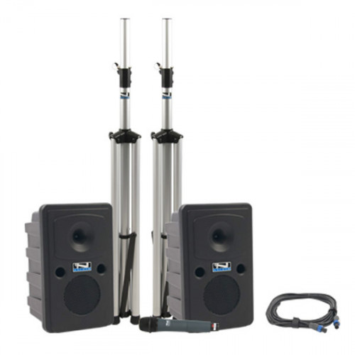 Anchor Audio GDP/HH Go Getter - Sistema PA Doble con Mic inalámbrico, mixer 4 canales, amplificador y Stands
