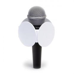"""Benchmark RND250W Portalogo """"Micflag"""" Blanco Circular para Micrófono de mano 6.35cm"""