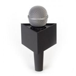 "Benchmark T375225B Portalogo ""Micflag"" Negro Triangular para Micrófono de mano 9,50cm x 5,70cm"