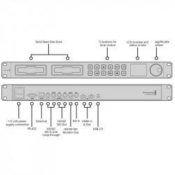 Blackmagic Design HyperDeck Studio2  Grabador de Video 4:2:2 SDI/HDMI