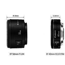 Canon Lente EF 40mm f/2.8 STM Ultra Compacto 130 gramos