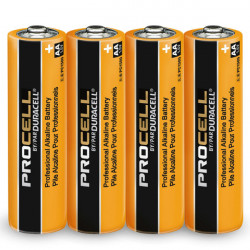 Duracell ProCell 1.5V AA  4-Baterías Alkalinas Pro