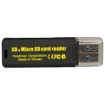 Hoodman HUSB3 Lector de tarjetas SDHC/SDXC y MicroSD SuperSpeed USB 3.0