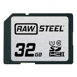 Hoodman SDHC32 Tarjeta de Memoria RAW STEEL SDHC HD Clase 10 + UHS-1 de 32GB (90Mb/s) 600X