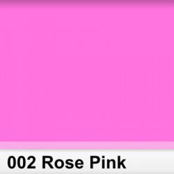 Rosco 002RS Pliego Rose Pink 50cm x 60 cm