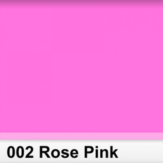 Rosco 002RS Pliego Rose Pink 50cm x 60 cm