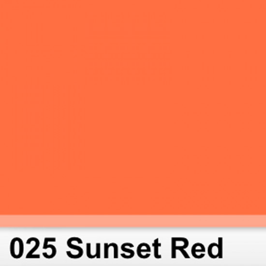 Rosco 025SR Pliego Sunset Red 50cm x 60 cm