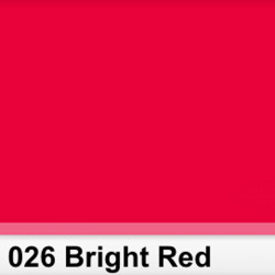 Rosco 026SR Pliego Bright Red 50cm x 60 cm