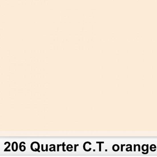 Lee Filters 206S Pliego 1/4 C.T.Orange 50cm x 60 cm
