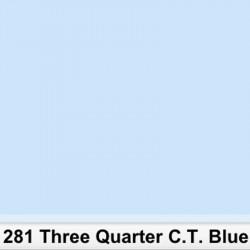 Lee Filters 281R Rollo 3/4 C.T.Blue  3200K a 5000K 1,22 X 7,62mts