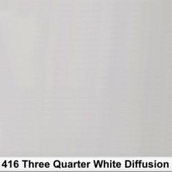 Rosco 416RR  Rollo 3/4 White Diffusion 1,22 x 7,62mts