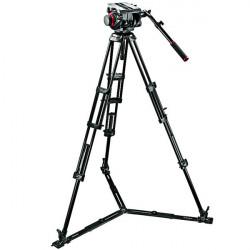 Manfrotto 509HD,545GBK Cabezal 509HD con trípode 545GB y estrella de piso y bolso