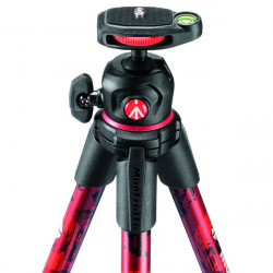 Manfrotto MKOFFROADR Off Road Hiker Tripode con Ball Head Rojo
