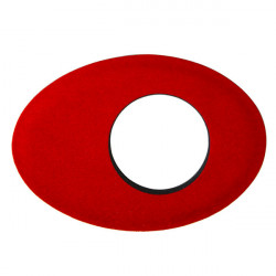 Blue Star 6014 Oval Extra Large de Microfibra Eyecushion Rojo