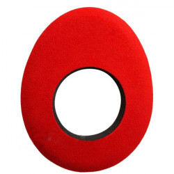 Blue Star 90132 Oval Large de Microfibra Eyecushion Rojo