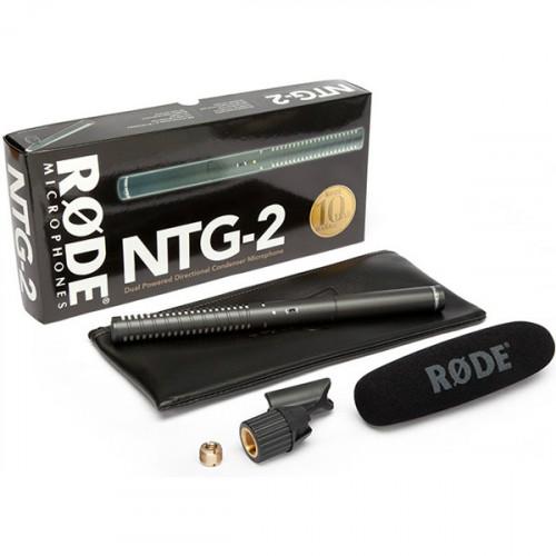 Rode NTG-2 Shotgun Micrófono Boom Multi Powered