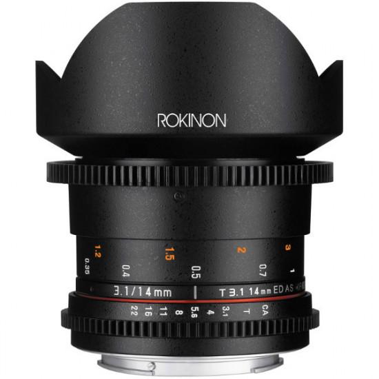 Rokinon Lente DS Cine 14mm T3.1 para NEX Sony E Mount