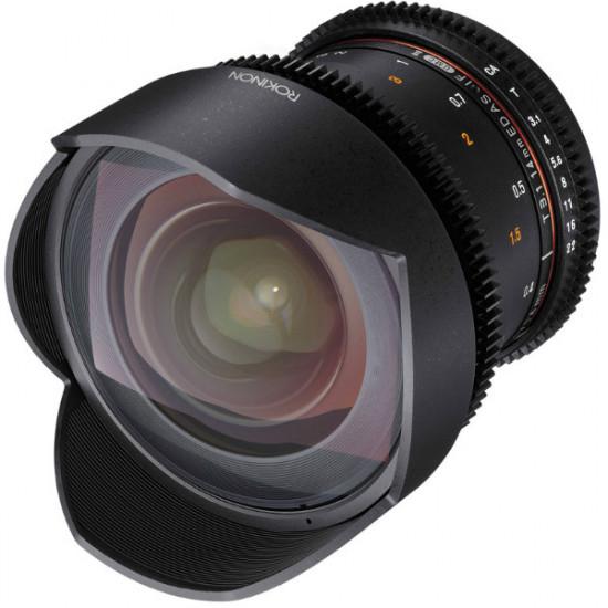 Rokinon Lente DS Cine 12mm T3.1 Fisheye para Canon EF Mount