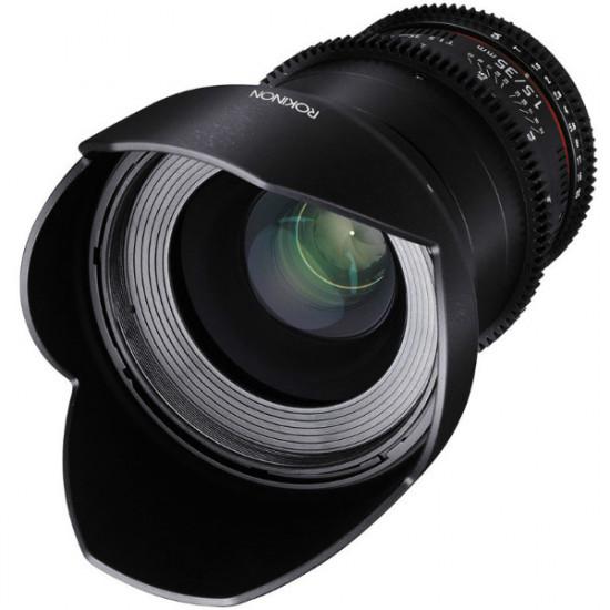 "Rokinon Lente DS Cine 35mm T1.5 para MFT micro 4/3"""
