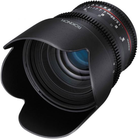 "Rokinon Lente DS Cine 50mm T1.5 para MFT micro 4/3"""