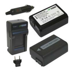 Wasabi A7s 2 Baterías y Cargador para A7s Sony  FW50